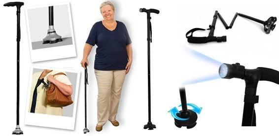 складная многофункциональная трость для пожилых